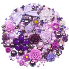 'PURPLE BERRY' Theme Rhinestone and Cabochon Mix